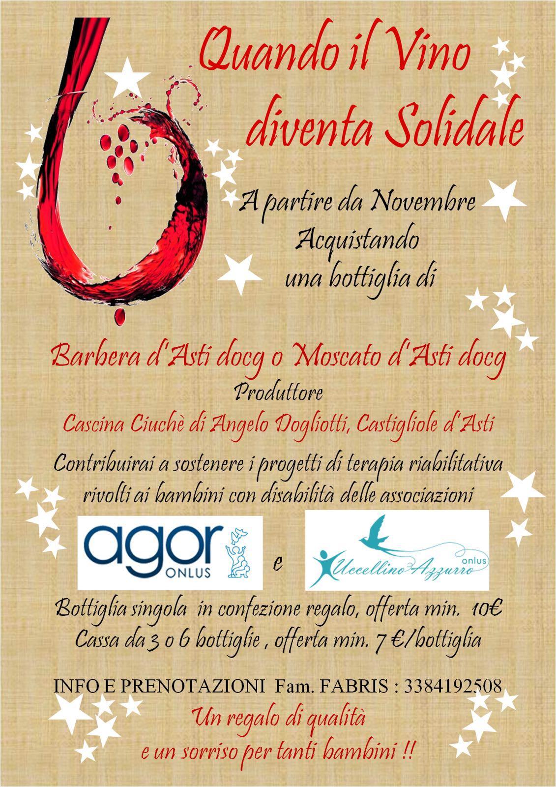 Volantino vino solidale